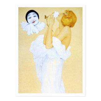 Pierrot's Dream - from the Pierrot's Love Series Postcard