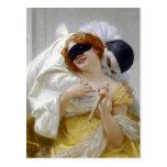 Pierrot's Embrace by Seignac Postcard