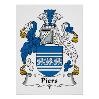 Piers Family Crest Posters