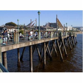 Piers Fishing Fishermen Standing Photo Sculpture