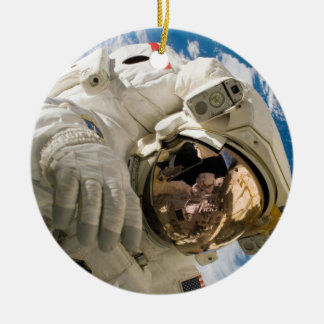 Piers Seller Spacewalk Double-Sided Ceramic Round Christmas Ornament