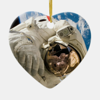 Piers Seller Spacewalk Double-Sided Heart Ceramic Christmas Ornament