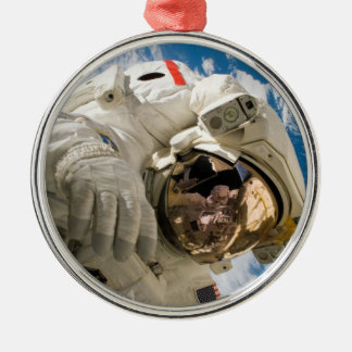 Piers Seller Spacewalk Round Metal Christmas Ornament