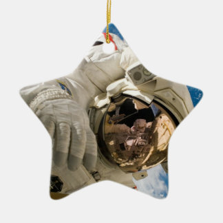 Piers Seller Spacewalk Double-Sided Star Ceramic Christmas Ornament