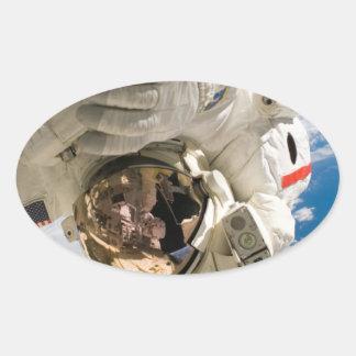 Piers Seller Spacewalk Oval Sticker