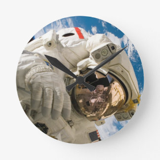 Piers Seller Spacewalk Round Clock