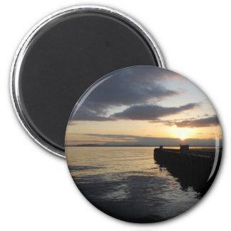 PierSunset041609 2 Inch Round Magnet