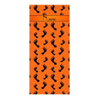 Pies anaranjados conocidos personalizados diseños de tarjetas publicitarias