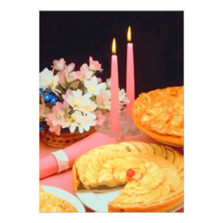 Pies And Candles Elegance Custom Invitation