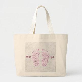 pies burbujeantes en rosa bolsa tela grande