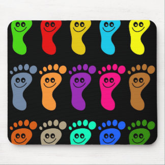 Pies coloridos tapetes de raton