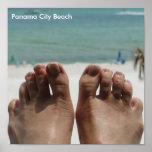 Pies con la playa impresiones
