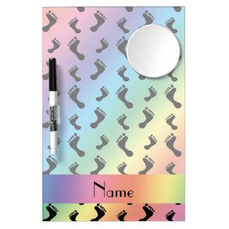Pies conocidos personalizados del arco iris pizarras