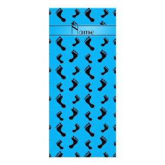 Pies conocidos personalizados del azul de cielo tarjeta publicitaria personalizada
