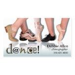 """Pies"" - coreógrafo, bailarín, instructor del bail Tarjetas De Visita"