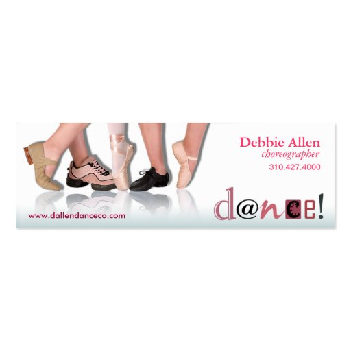 """Pies"" - coreógrafo, bailarín, instructor del bail Tarjeta De Visita"