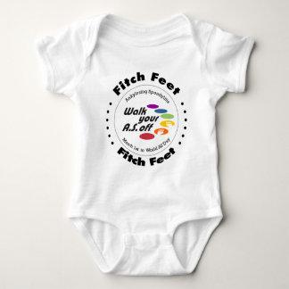 Pies de Fitch del equipo Body Para Bebé