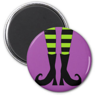 Pies de la bruja de Halloween Imán Redondo 5 Cm