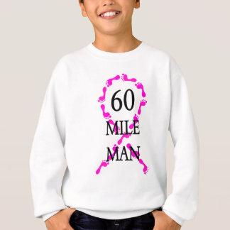 pies de la cinta del rosa del hombre de 60 millas sudadera