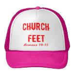 pies de la iglesia gorras de camionero