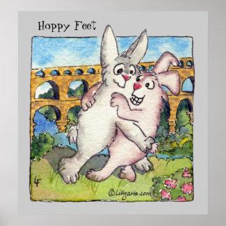 Pies de lúpulo del dibujo animado de los conejos d