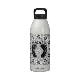 Pies de mandala botellas de agua reutilizables