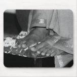 Pies de Sathya Sai Baba Lotus en Mousepad Tapetes De Ratón