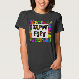 Pies de Tappy - camiseta de la danza de golpecito Poleras