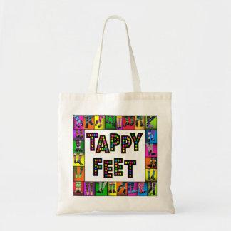 Pies de Tappy - tote de la danza de golpecito Bolsa Tela Barata