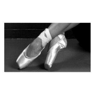 pies del ballet tarjetas de visita