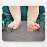 Pies del bebé alfombrilla de ratones
