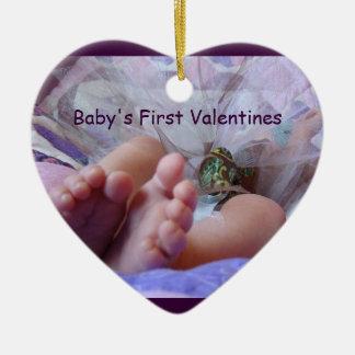 Pies del bebé del ornamento de los regalos de la p
