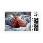 Pies del bebé franqueo