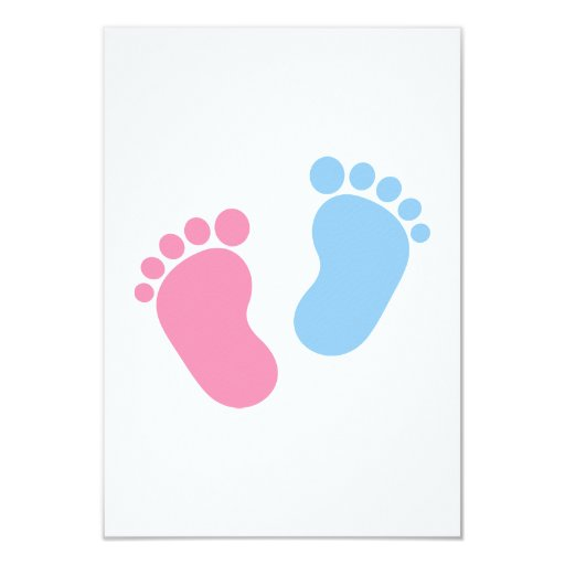 """Pies del bebé invitación 3.5"""" x 5"""""""