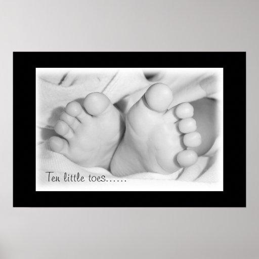 Pies del bebé poster