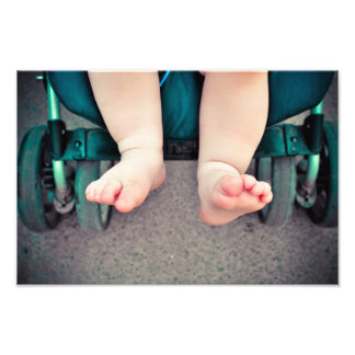 Pies del bebé fotografias