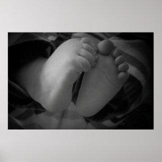 Pies del bebé póster