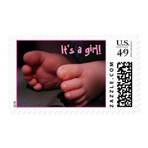 pies del bebé sello