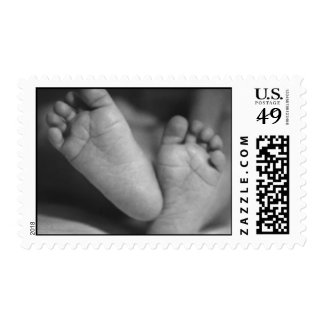Pies del bebé sellos postales