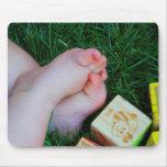 Pies del bebé tapete de ratón