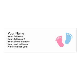 Pies del bebé tarjeta de visita