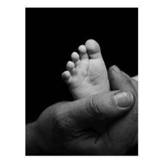 pies del bebé tarjetas postales