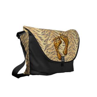 Pies del tigre bolsas de mensajeria