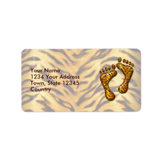 Pies del tigre etiquetas de dirección