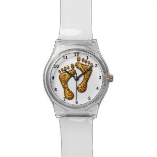Pies del tigre reloj