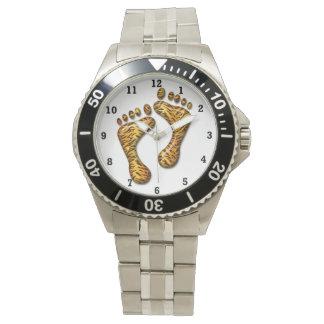 Pies del tigre relojes de pulsera
