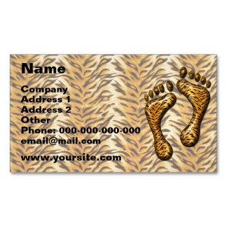 Pies del tigre tarjetas de visita magnéticas (paquete de 25)