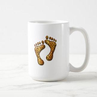 Pies del tigre taza