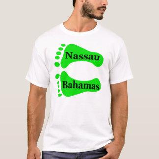 Pies desnudos de Nassau Bahamas Playera