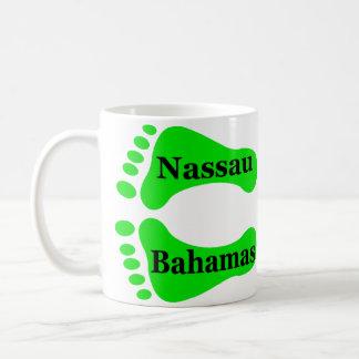 Pies desnudos de Nassau Bahamas Taza